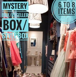Mystery Box Reseller Box nwt like new 6 to 8 items